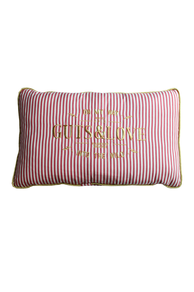 GUTS&LOVE G&L Stripes Cushion SMALL Rojo (65 x 42)