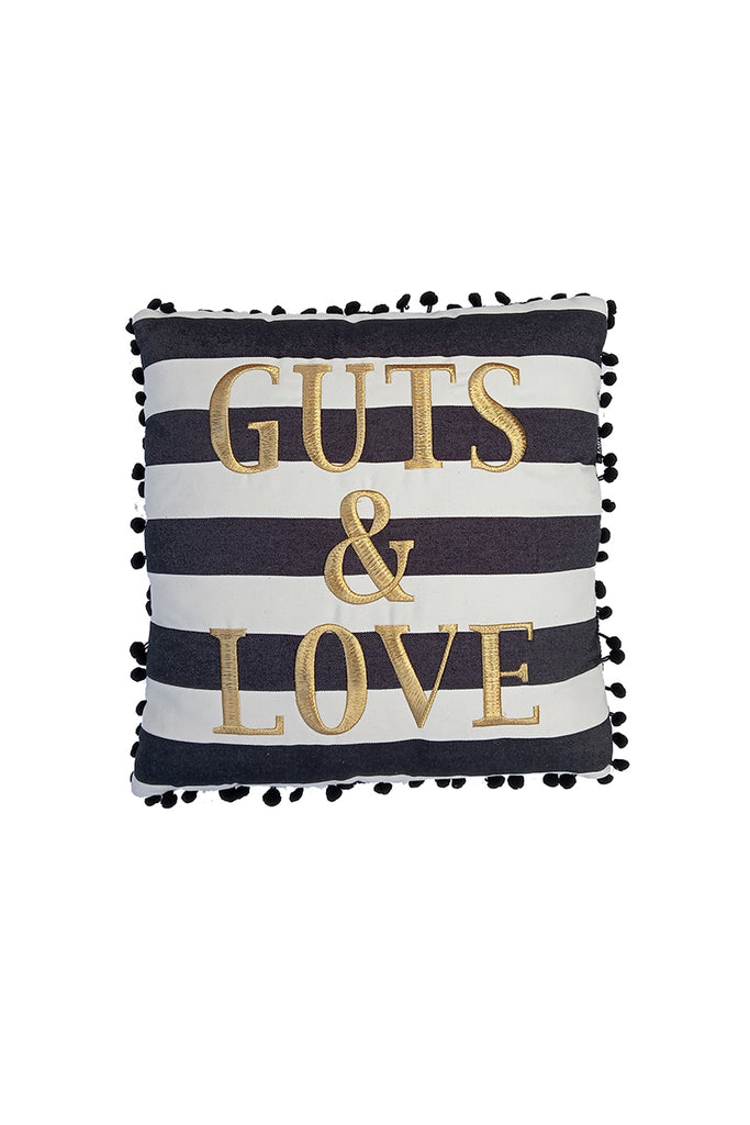 G&L Stripes Cushion BIG Negro(45 x 45)