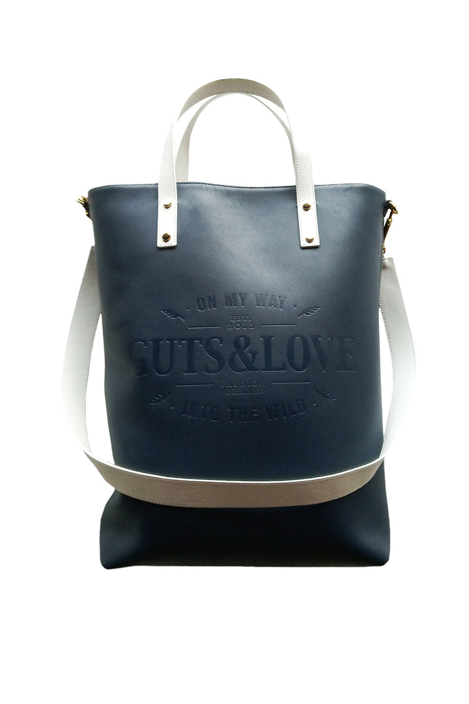 Bolso Tote Touché en marino Guts and Love