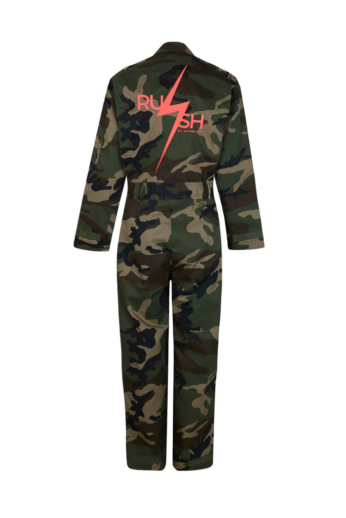 CAMO AND NEON COVERALL