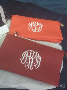 Monogramed Clutch/Crossbody/Wristlet-Small