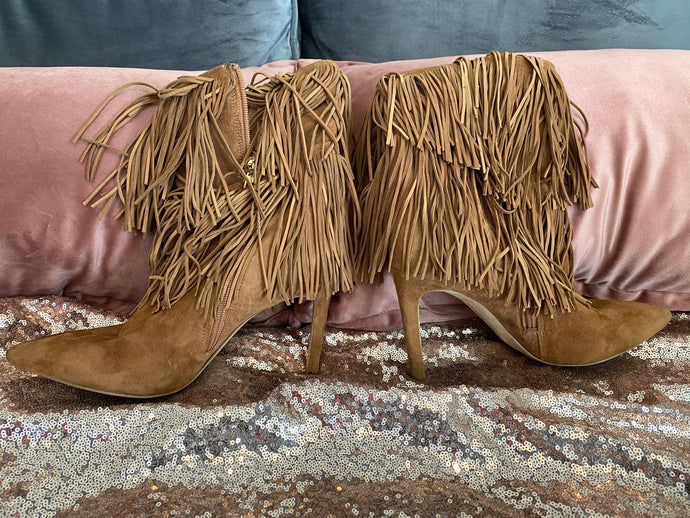 Fringe Booties- Size 9