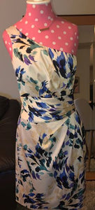 One Shoulder Floral Formal Dress