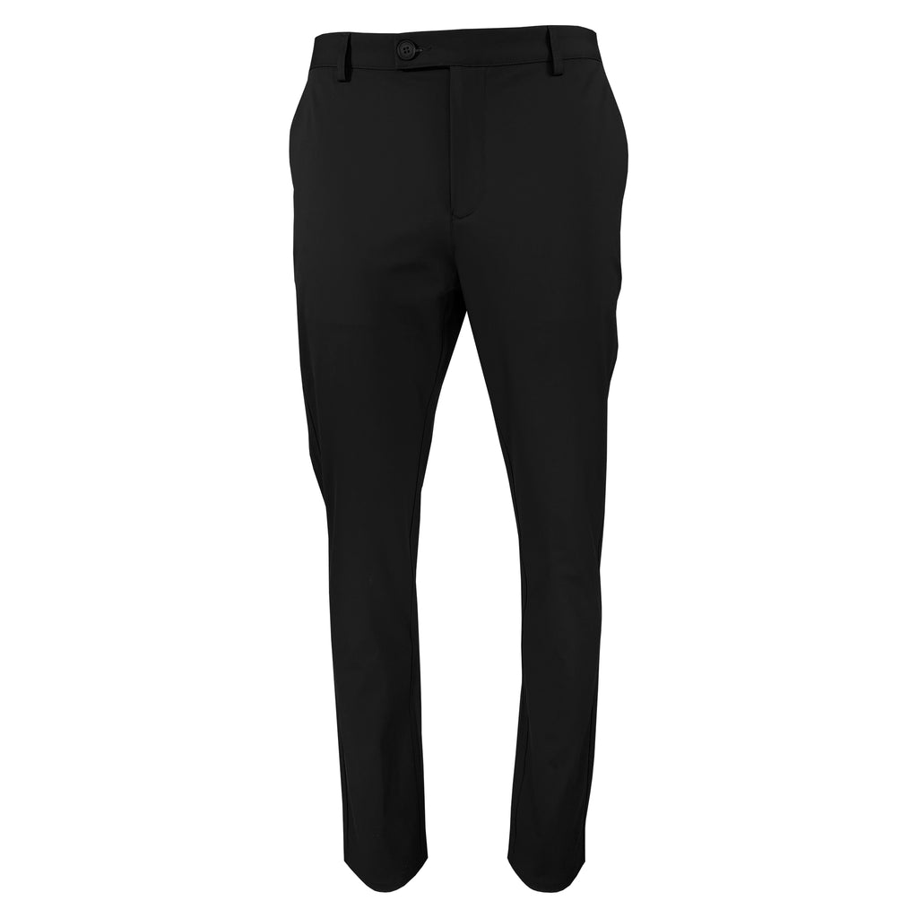'Black' Slim Straight Tech Pant