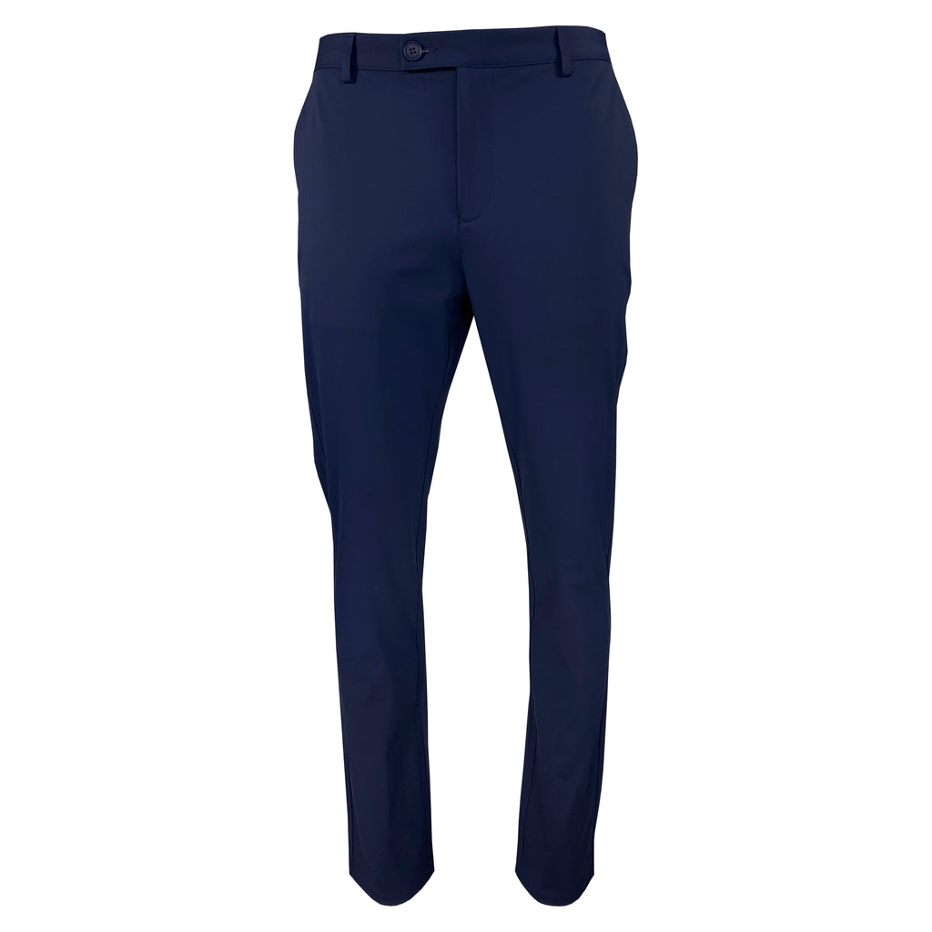 'Navy' Slim Straight Tech Pant