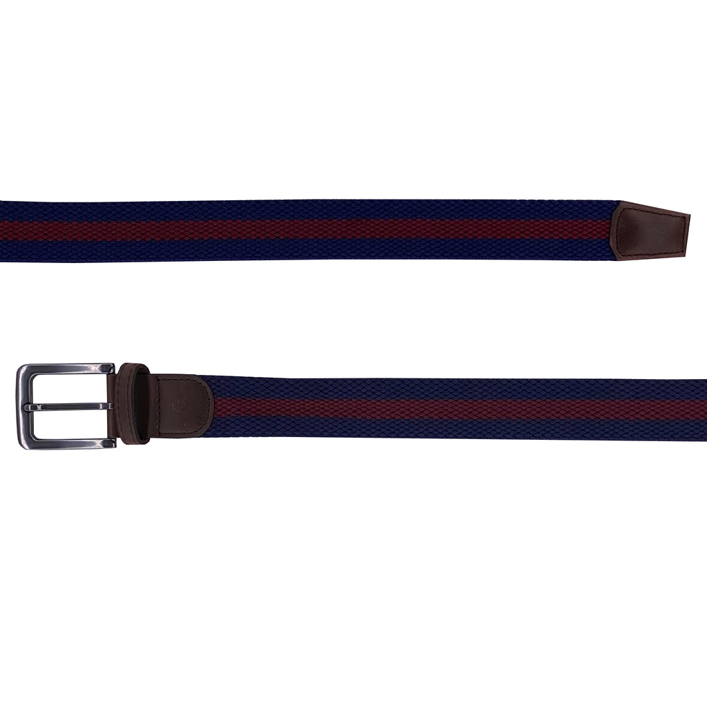 B Scott Performance Stretch Belt (Navy / Maroon)