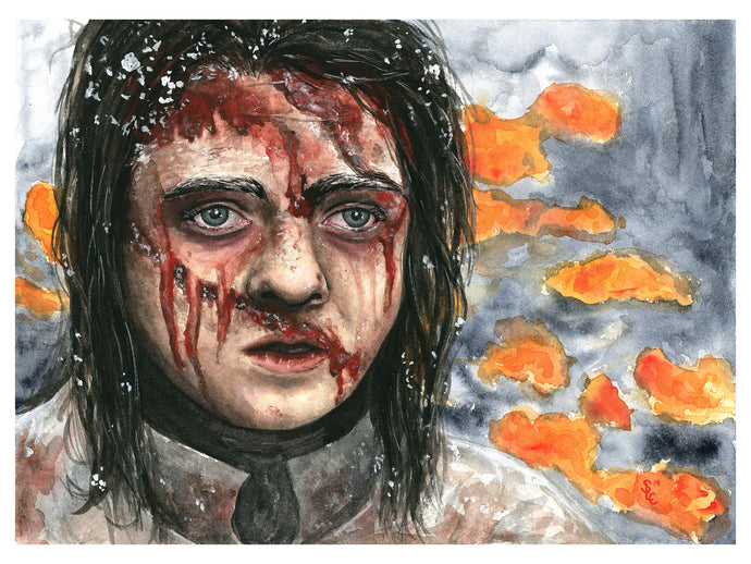 Game of Thrones: Arya Stark, Framed Painting