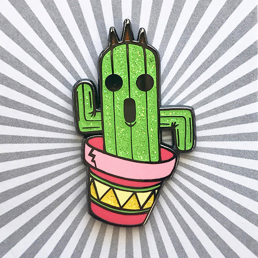 Potted Cactuar Hard Enamel Pin