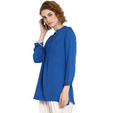 Solid Tunic with concealed Placket