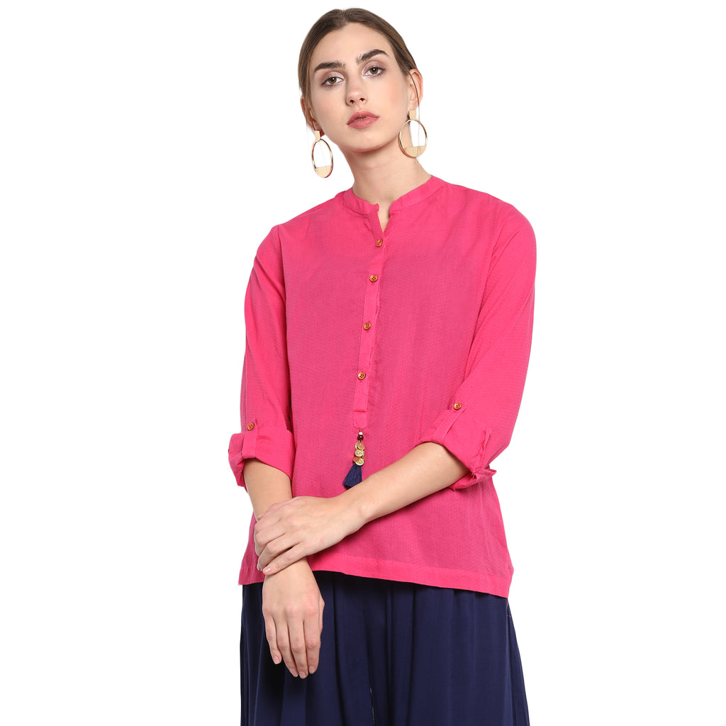 Sloid Pink Blouse