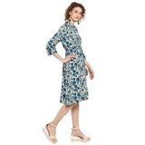 Printe Dshirt Dress With Belt