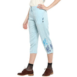 Blue Block Printed Solid Pant