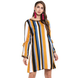 Multi stripe sheath dress
