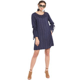 Fashionable navy blue dress