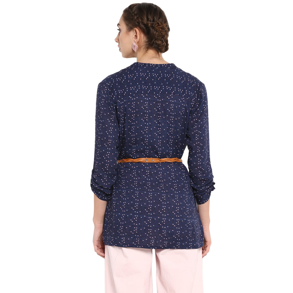 Appealing navy blue tunic