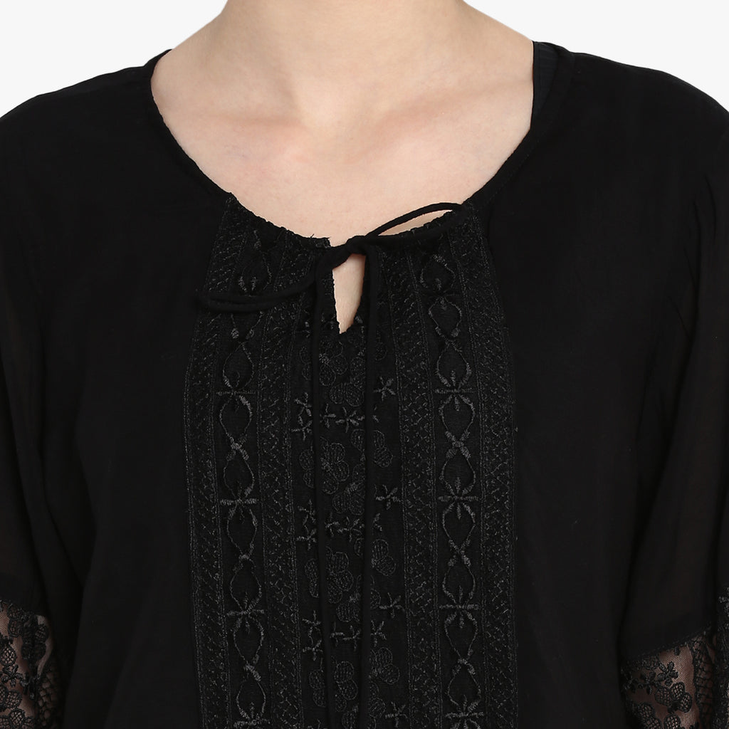 Solid Black Blouse