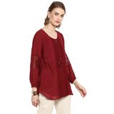 Solid Maroon Blouse