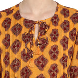 Printed Tunic With Tassels