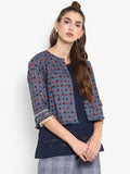 Contrast Printed jacket with attached inner