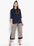 Printed Doubled Layered Pant
