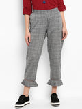 Yarn Dyed Ankle Length Pants