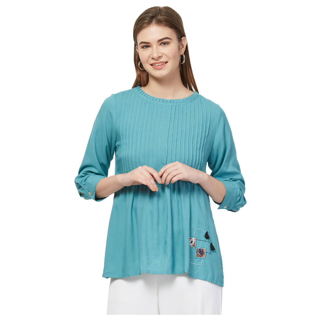 Basic Teal tunic