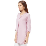 Straight Tunic  with button