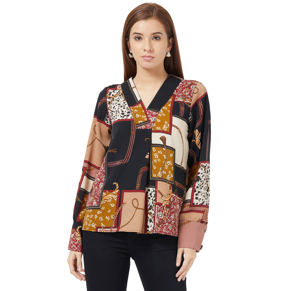 Printed full sleeve top with Buttons at cuff