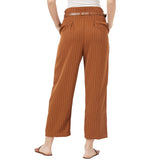 Pleated wide leg trousers with front buttons