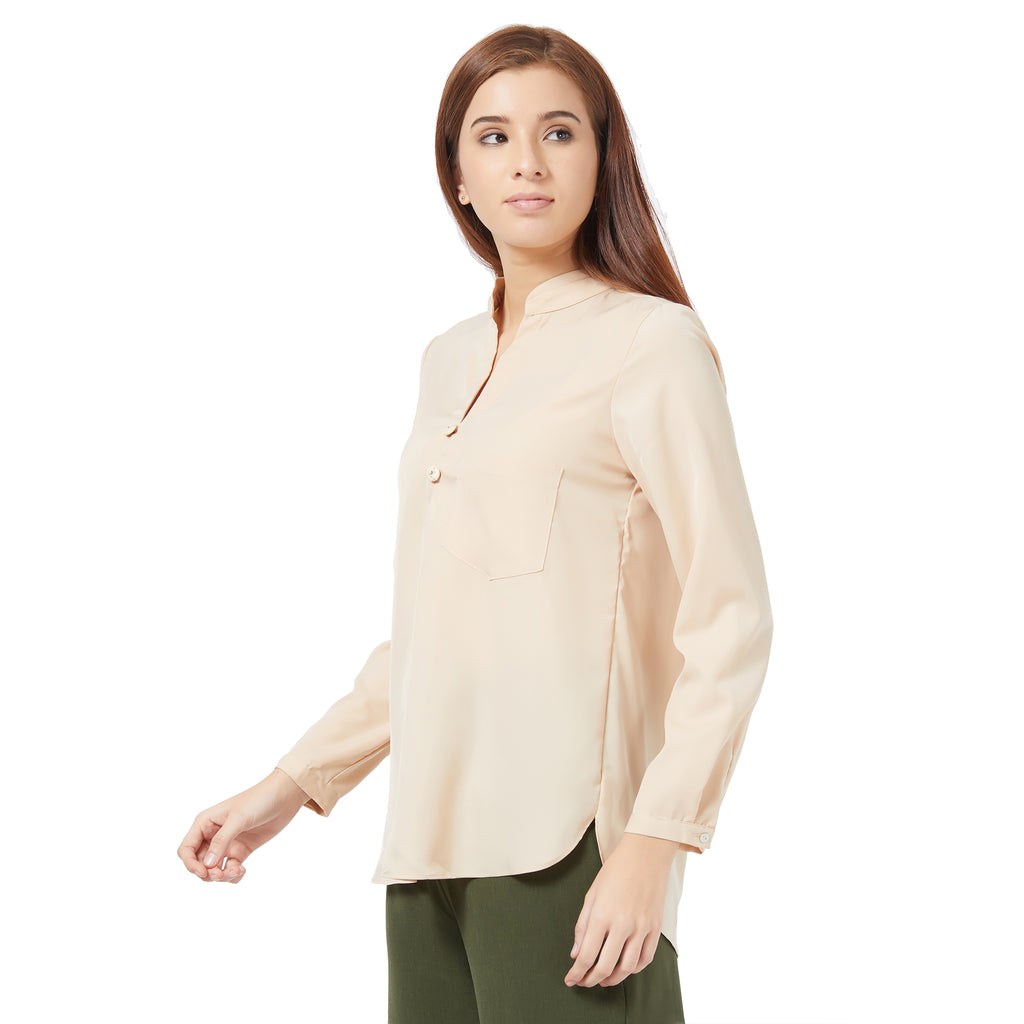 Beige Basic blouse