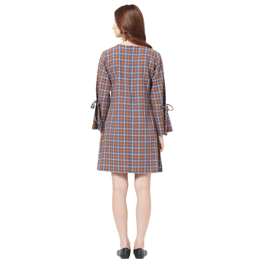 Checked Dress