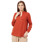 Brown Basic blouse