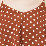 Strappy Dotted Dress
