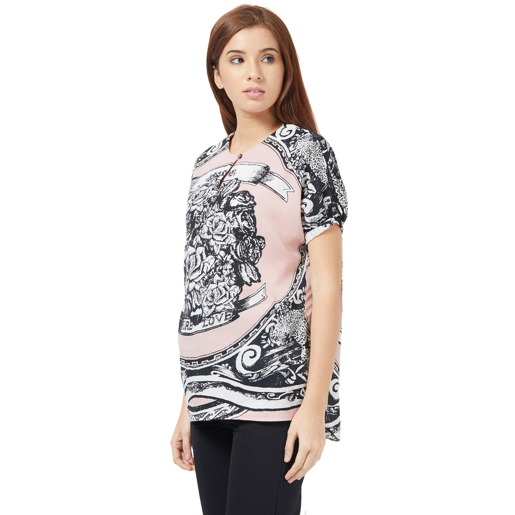 Pink Placement print top