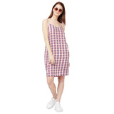 Checked Strappy Dress
