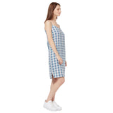 Strappy Checked Dress