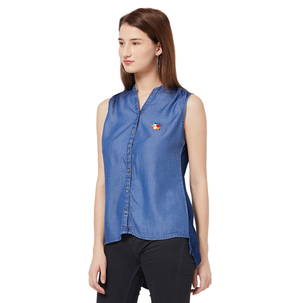 Denim Sleeveless Top