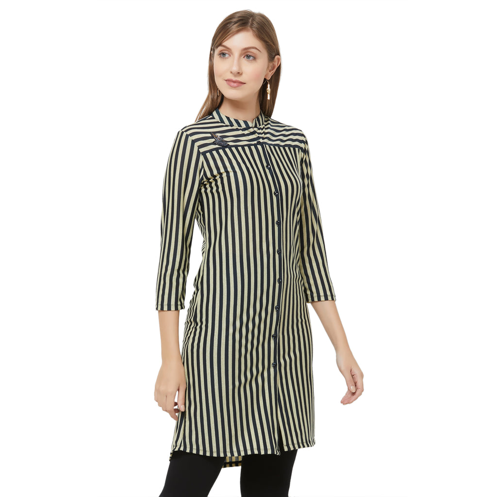 Black lurex stripe Tunic