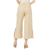 Pleated wide legged trousers