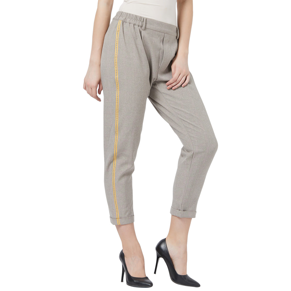 Trousers with turn up hem
