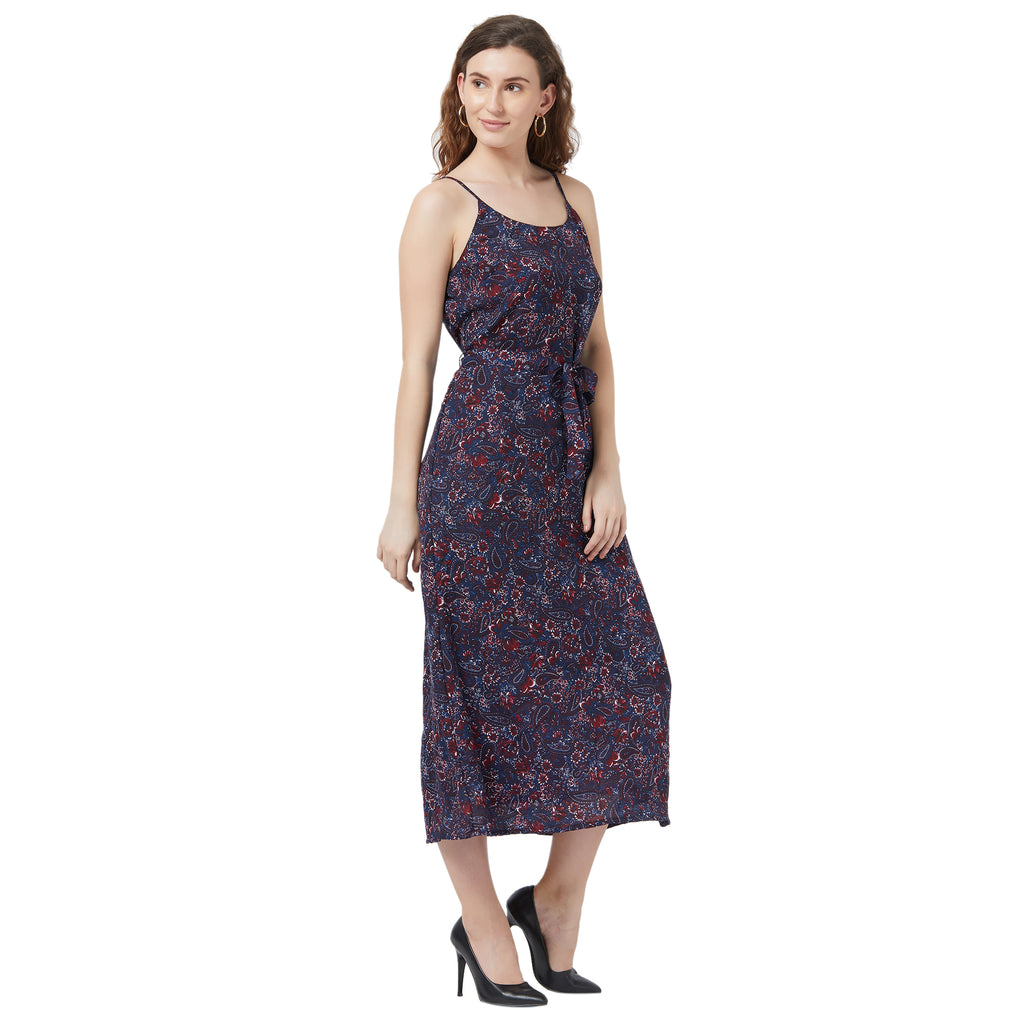 Slip Dress with fabric belt