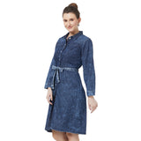 Fitted Denim Washed Dress