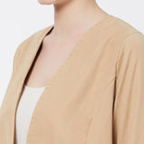 Suede finish casual jacket