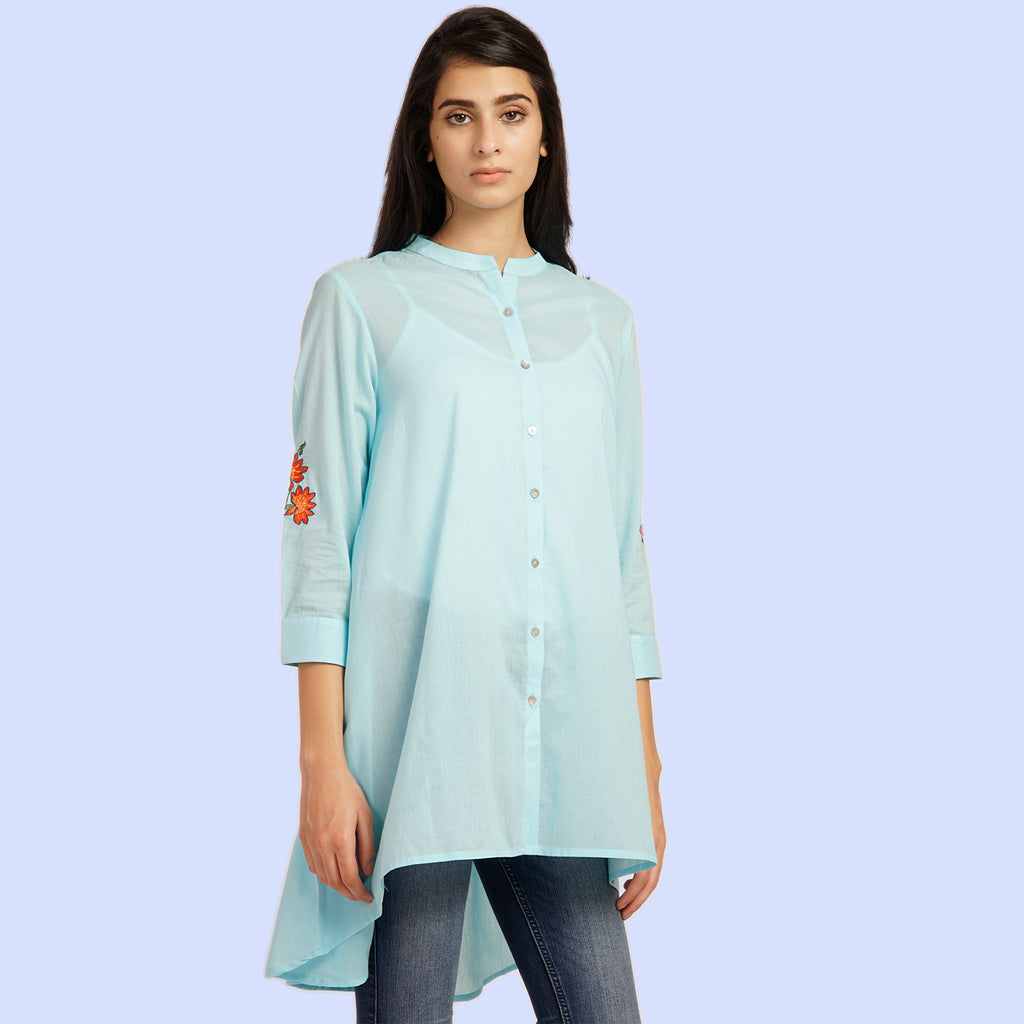 Solid Hue Flared Tunic