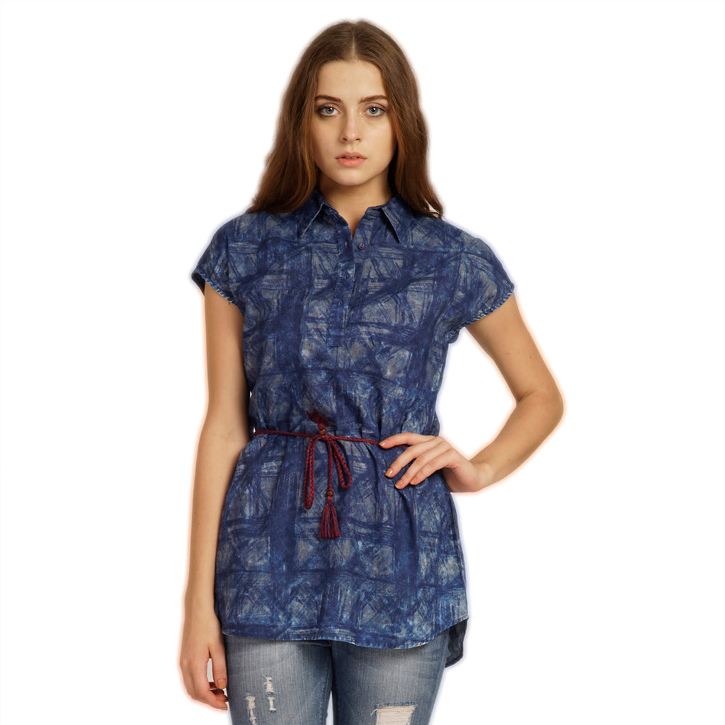 Denim Print Tunic