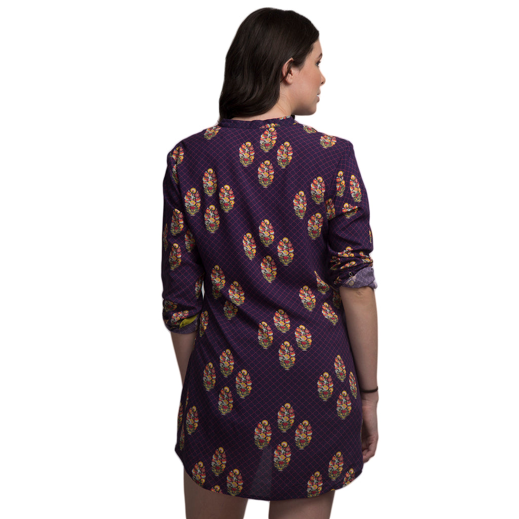 Mughal Art Inspired Digitally Printed Modal Tunic