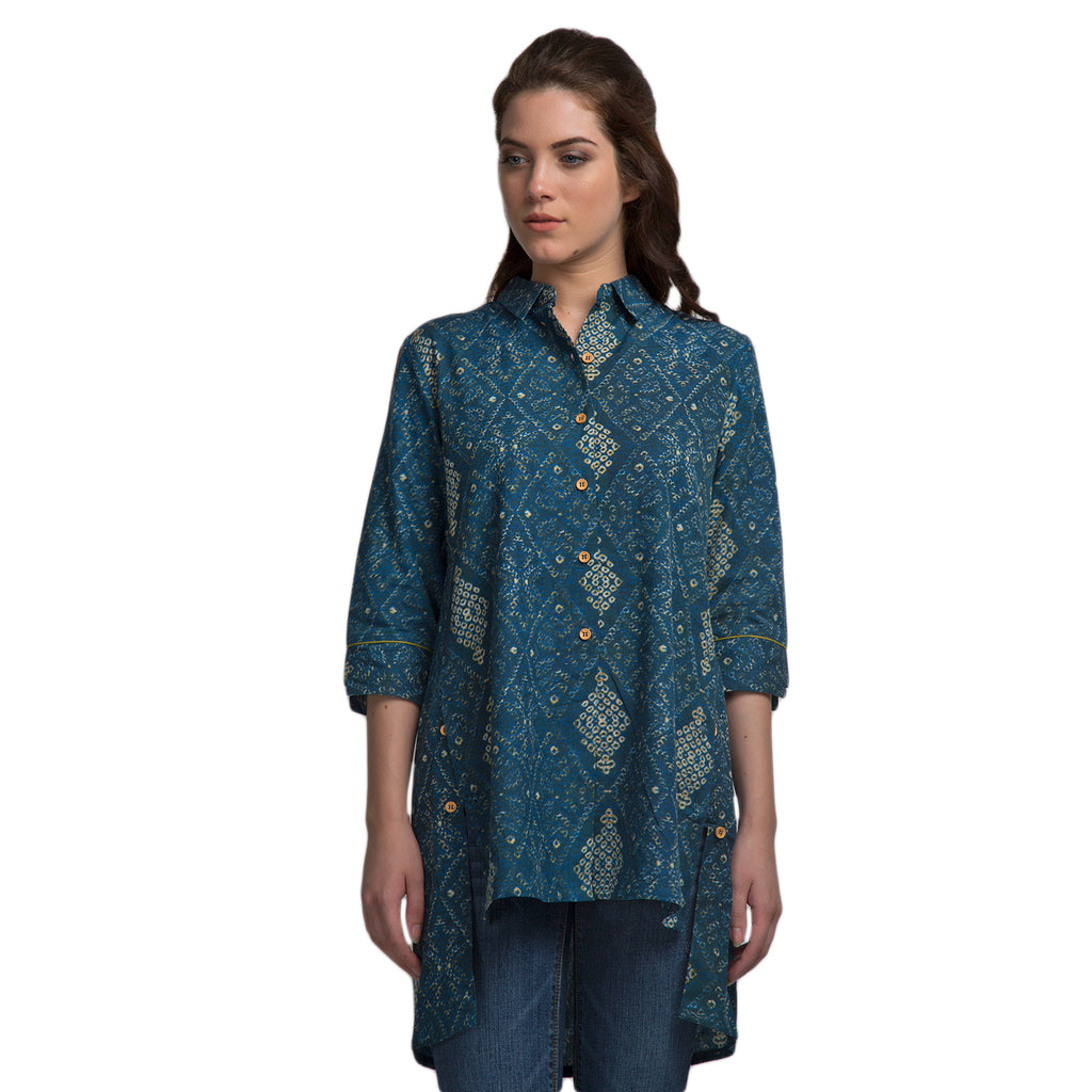 Smart Fit Button Down Tunic