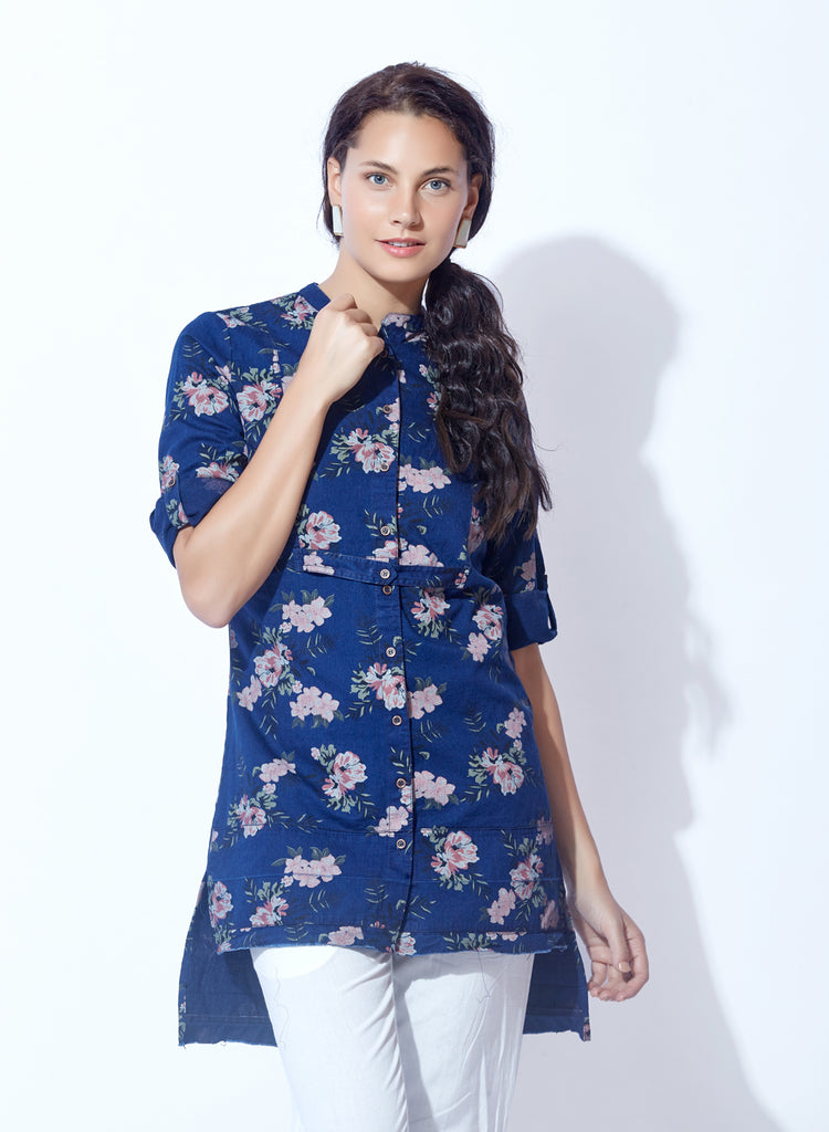 Washed Denim Tunic
