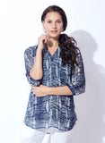 Stylised Georgette basic Print tunic