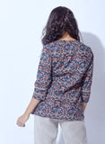 Ajrak print cambric top
